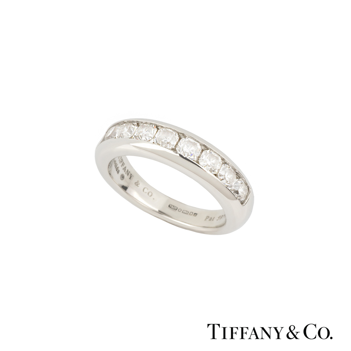 Tiffany & Co. Lucida Cut Diamond Half Eternity Ring in Platinum 0.70ct